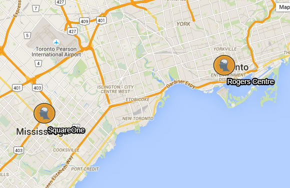 TechKnow Space Toronto & TechKnow Space Mississauga Map