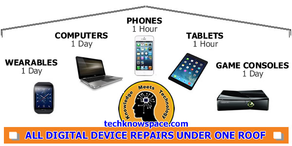 Repairing: Smart phones, tablets, laptops, computers, wearables, and gaming consoles in Toronto & Mississauga. The TechKnow Space is your one-stop digital device repair shop.