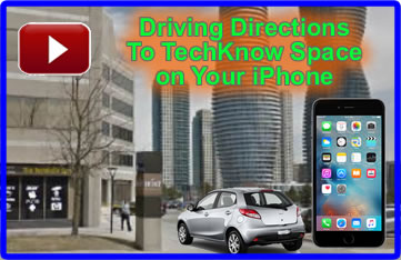 Get directions to TechKnow Space with your iPhone