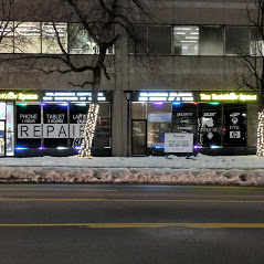 Street View of Techknow Space on a Winter Evening