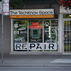 Techknow Space Toronto Storefront in Spring