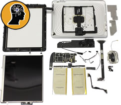 iPad disassembled for data retrieval