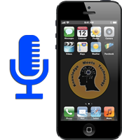 iPhone with a repaired microphone